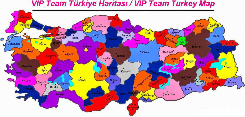 vip team turkiye haritasi